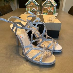 Silver with Rhinestone Sandals - Size 10